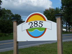 Bed and Breakfast address sign