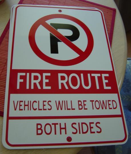Aluminum No Parking Signs