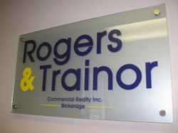 Glass Office Signs