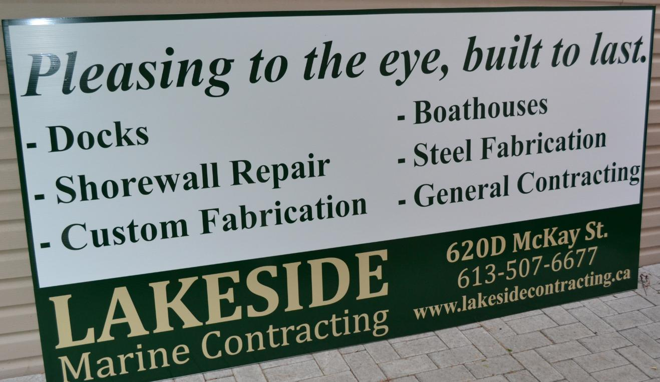 Lakeside Marine shop front billboard