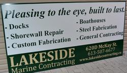 Lakeside Marine shop front billboard