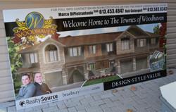 New subdivision coroplast billboard