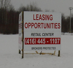 Large format commercial land sign