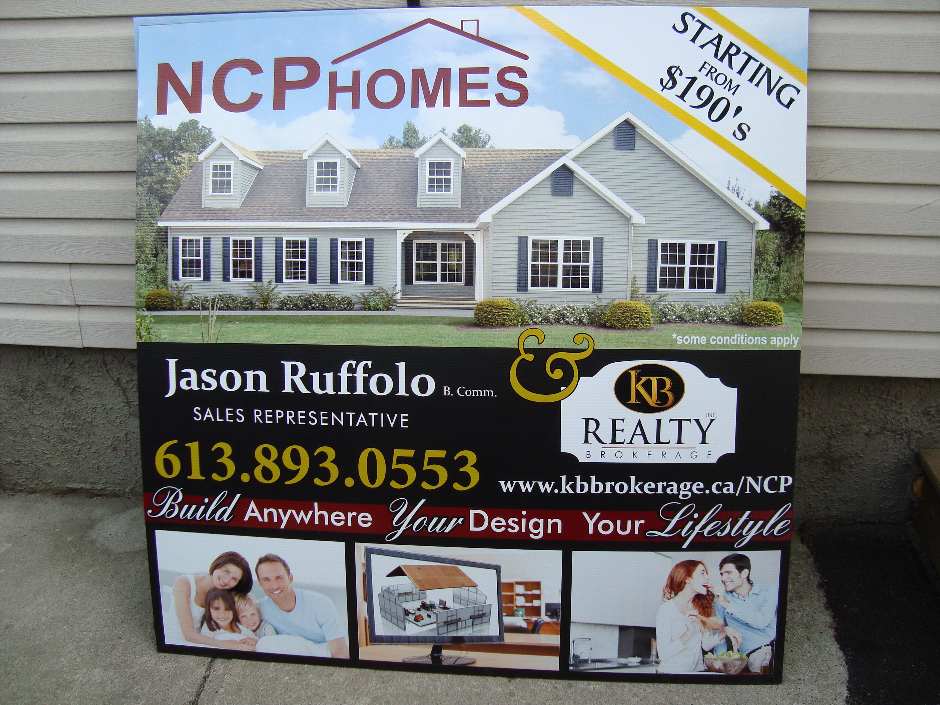 Custom Home 4' x 4' sign