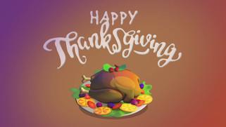 3D Thanksgiving Message