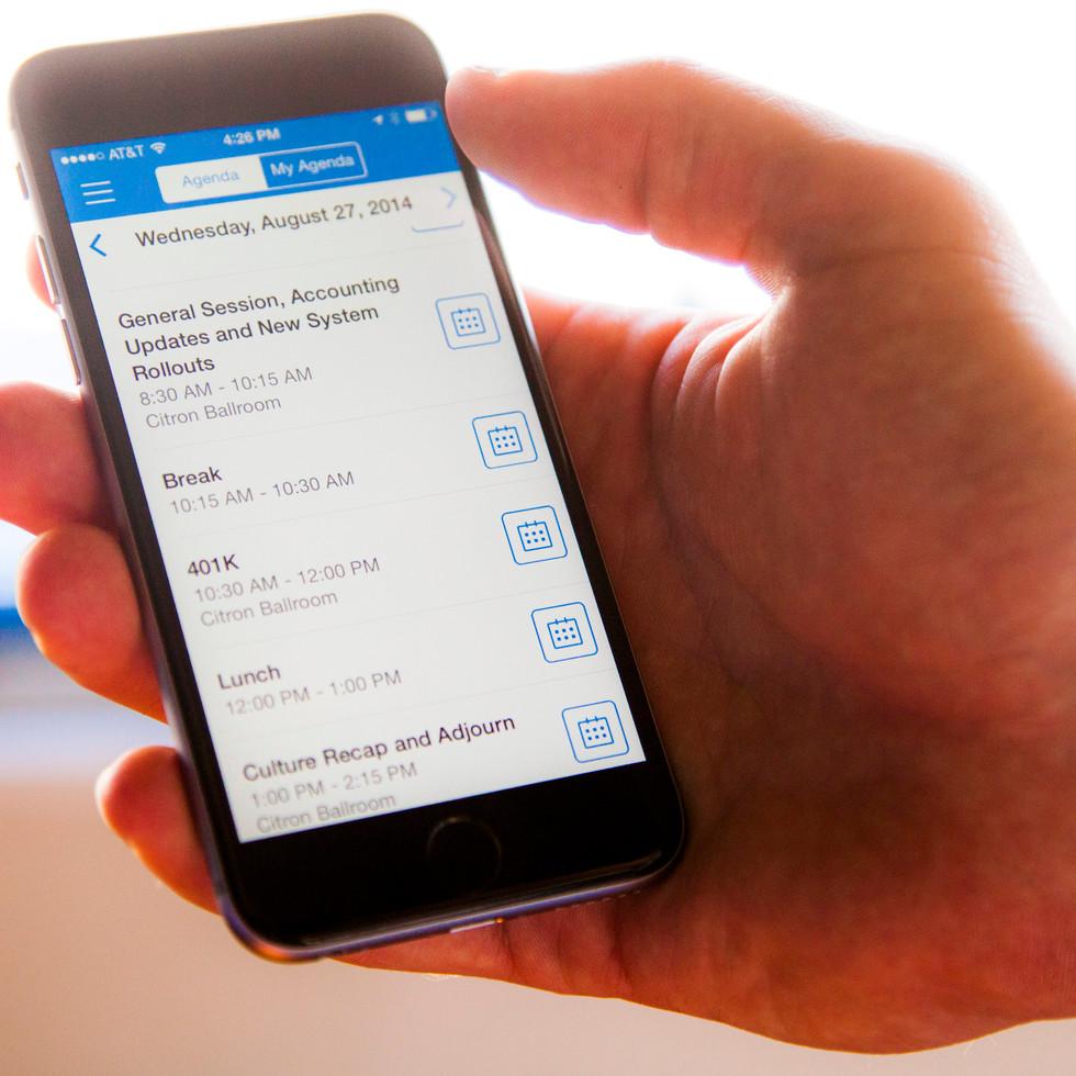 event mobile app management