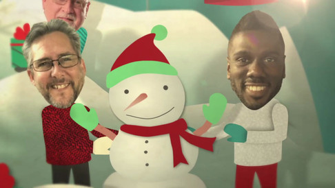Holiday Faces Pop Up Card SNOW