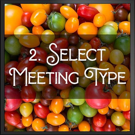 Select Meeting Type