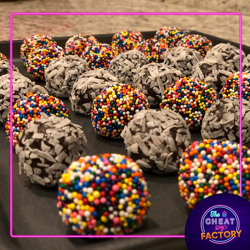 CHOCOLATE-DULCE DE LECHE CAKE BALLS