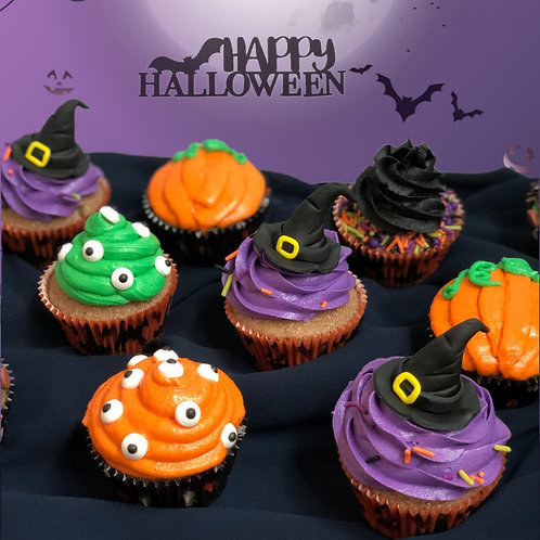ASSORTED HALLOWEEN CUPCAKES (4 Pack, 6 Pack or 12 Pack)