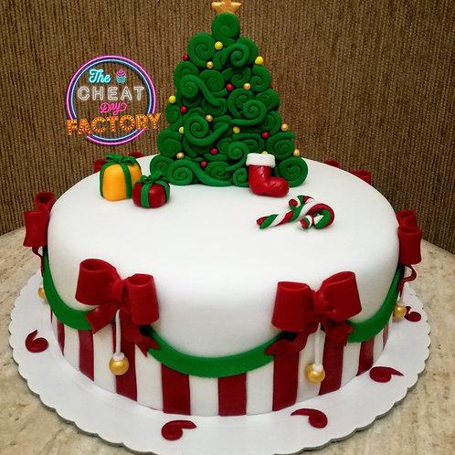 CHRISTMAS MORNING - CUSTOM CAKE
