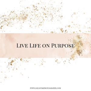 Live Life on Purpose a writing guide to help women feel happier in life. LeeAnn K Photography Pittsburgh PA