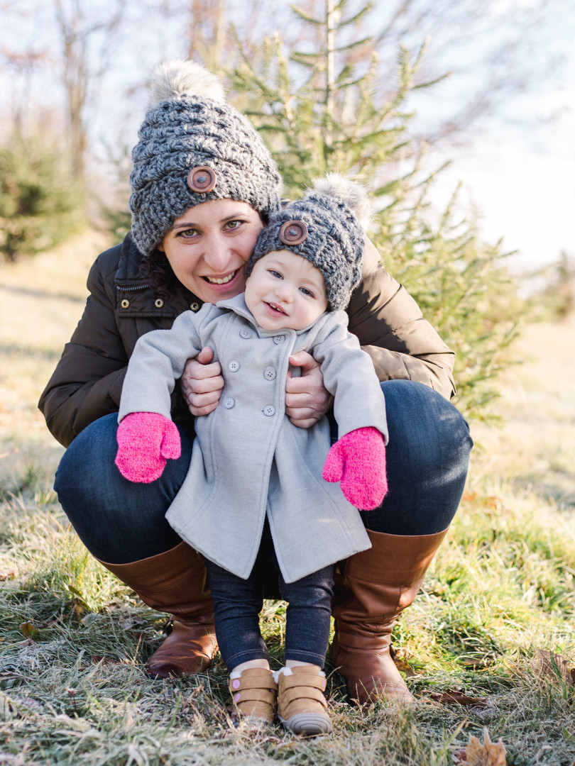 Mother/ daughter portrait at Nutbrown's Christmas Tree Farm by LeeAnn K Photography