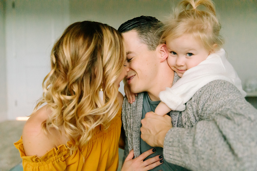 Family art photography  mother, father and daughter  by LeeAnn K Photography  in Saint Clair, Pittsburgh PA