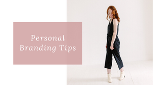 Blog cover image with text personal branding tips.