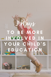 Tips/ suggestions on how parents can be more involved with the their child's education by LeeAnn K Photography. Pittsburgh Family Photographer