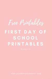 First Day of School free printables with two different styles!