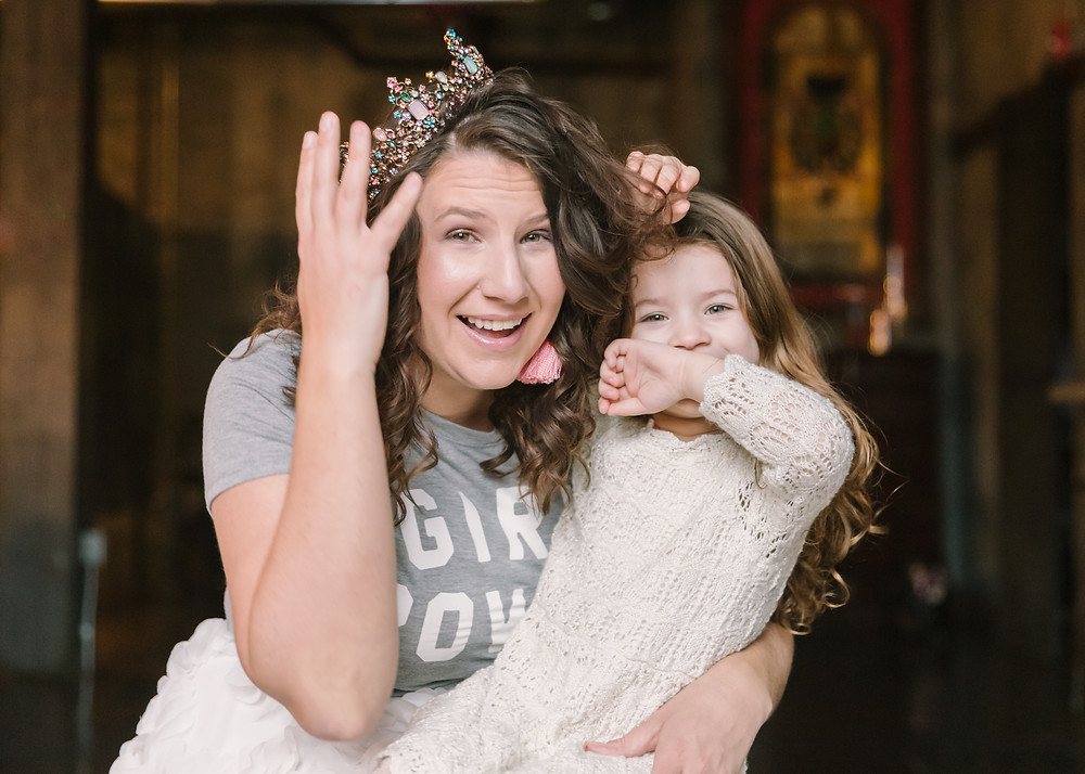 Editorial portrait of Amanda Cowen and her daughter at Hip at the Flashlight Factory by LeeAnn K Photography