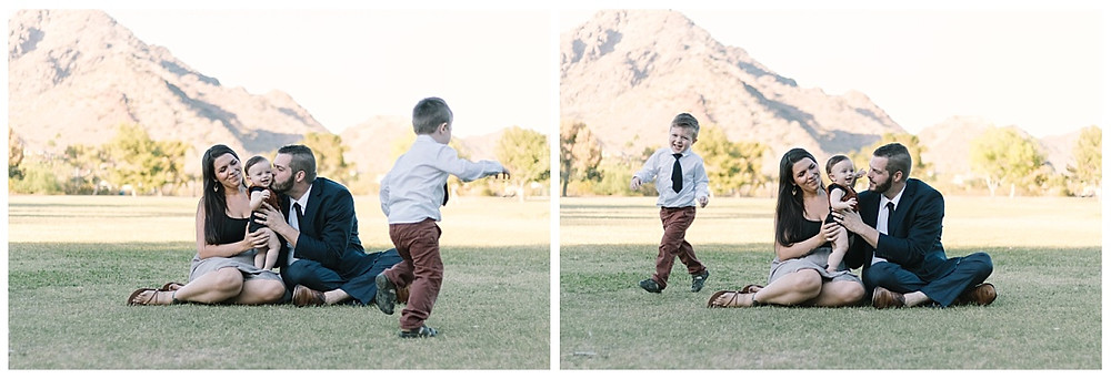 Cooper family portraits at Granada Park in Phoenix. Portraits taken by LeeAnn K photography.