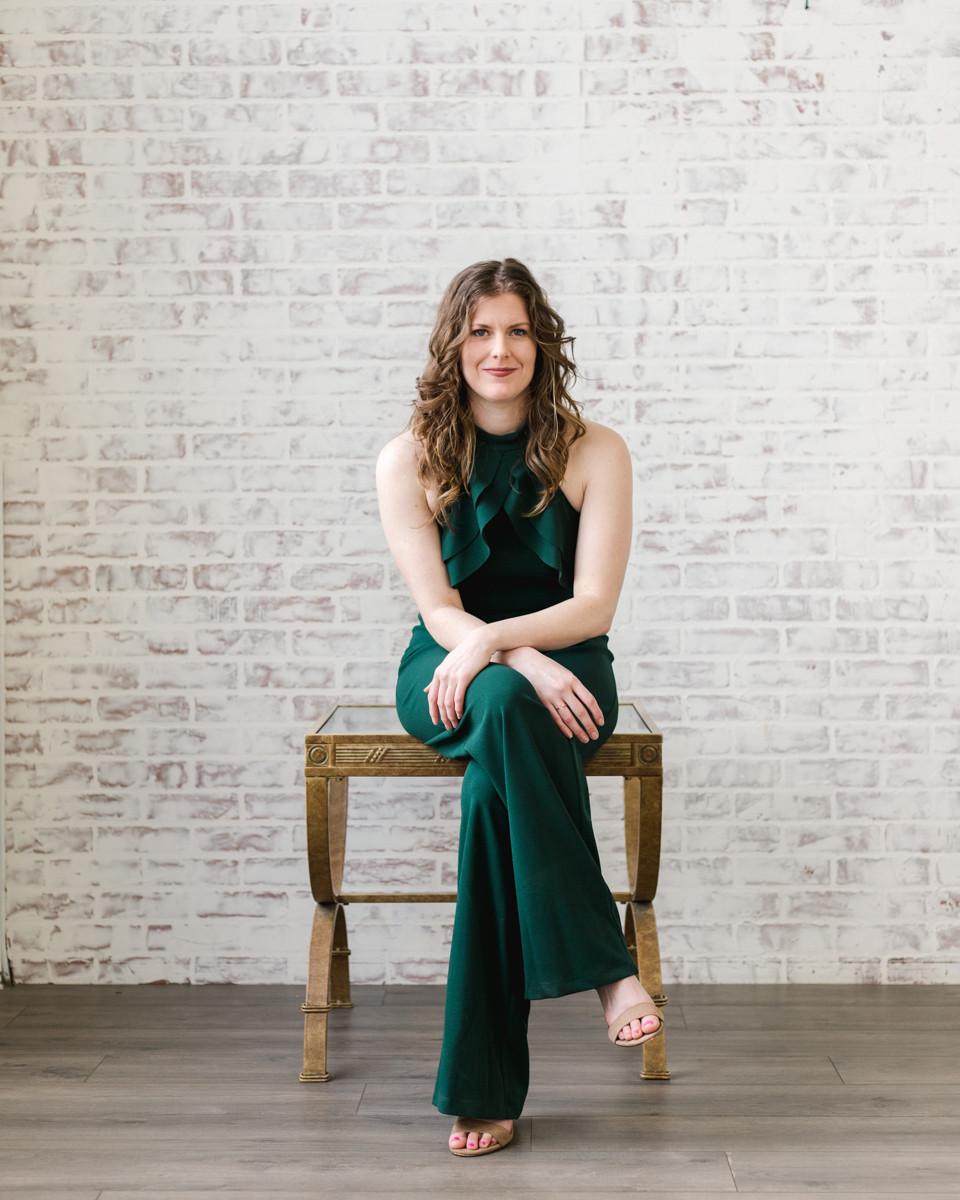 Powerful female pose for brand shoot by LeeAnn Stromyer