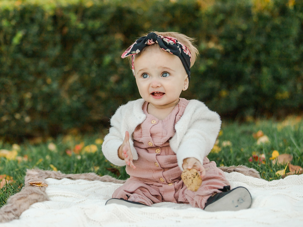 Fall baby portrait at mellon garden by LeeAnn Stromyer