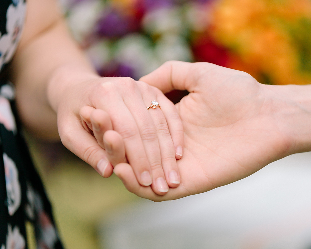 Engagement ring close up by LeeAnn K Photography
