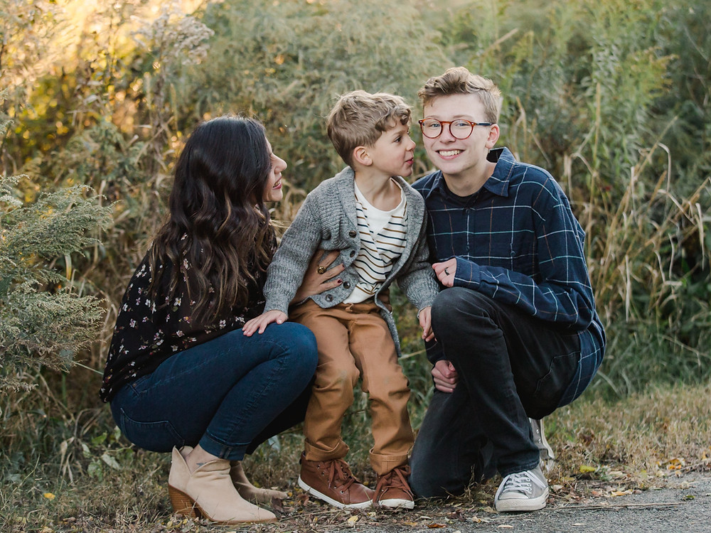 Fall family photos at Riverfront Park in Aspin Wall by LeeAnn Stromyer