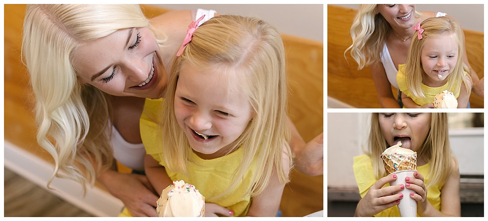 Family portraits in Millie's Ice Cream Shop, Pittsburgh PA, LeeAnn K Photography