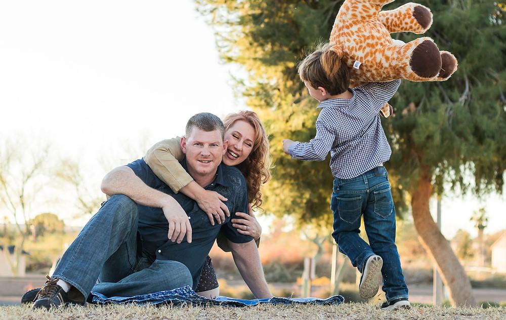 Outdoor lifestyle family portrait by LeeAnn K Photography, Pittsburgh Pa & Phoenix Az