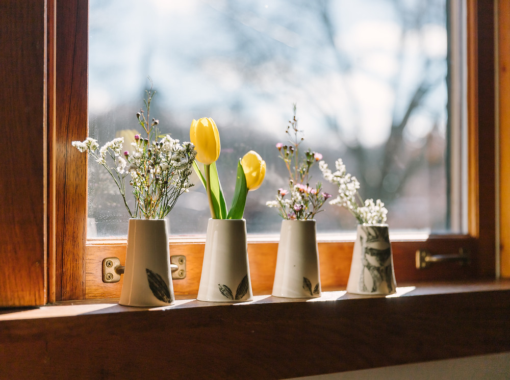 Ceramic vases, personal brand photography by LeeAnn K Photography