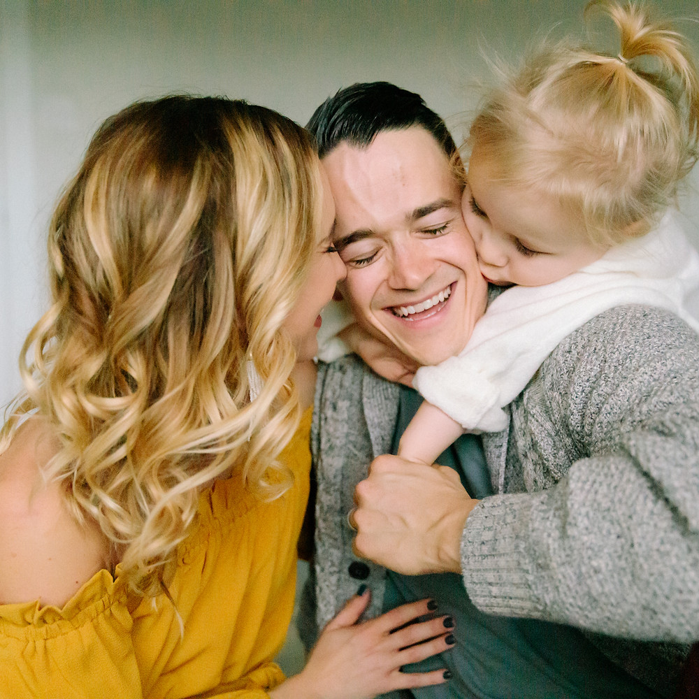 Family art photography - mother, father and daughter  by LeeAnn K Photography  in Saint Clair, Pittsburgh PA