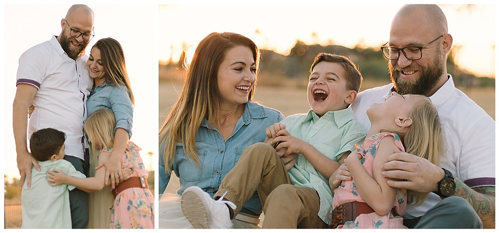 Family portraits taken at Steele Indian School Park by LeeAnn K photography.