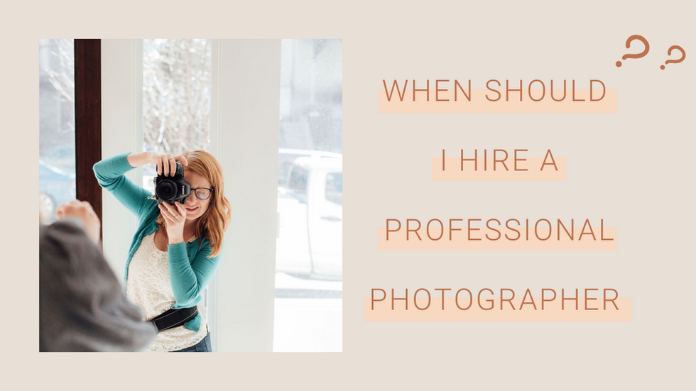 When should I hire a professional photographer for my business?