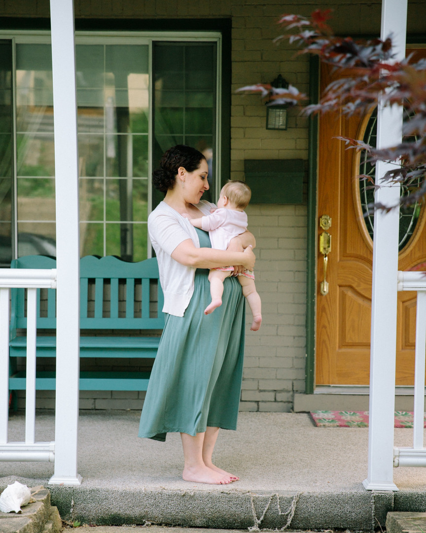 Portrait of a mother and her baby at their home by LeeAnn Stromyer a Pittsburgh family photographer.