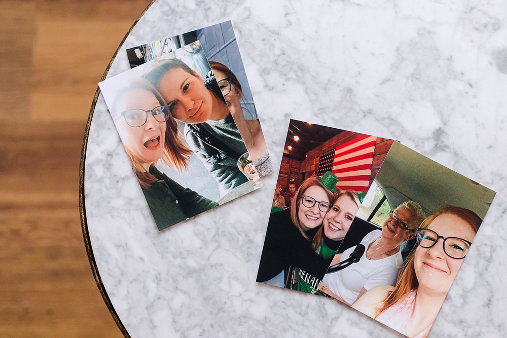 Photograph of photos printed using app free prints by LeeAnn Stromyer