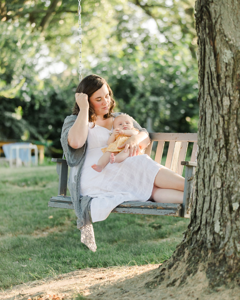 Family portrait of a mother and her daughter for an at-home session in Pittsburgh, PA by LeeAnn K Photography