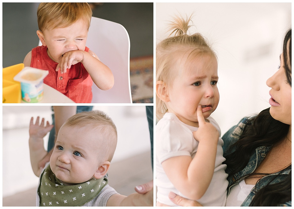 Baby meltdowns. Portraits taken by LeeAnn K Photography. Pittsburgh and Phoenix family photographer.
