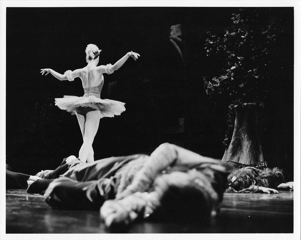 Portrait of a ballerina during rehearsal by LeeAnn Stromyer.