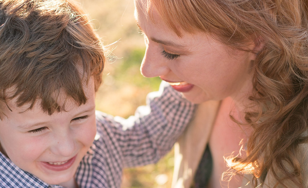 Outdoor mother and son portrait by LeeAnn K Photography, Pittsburgh Pa & Phoenix Az