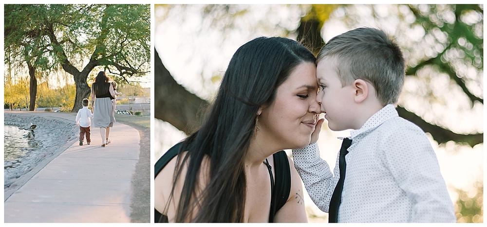 Mommy and me photos taken at Granada Park in Phoenix, AZ. Family portraits taken by LeeAnn at LeeAnn K photography.