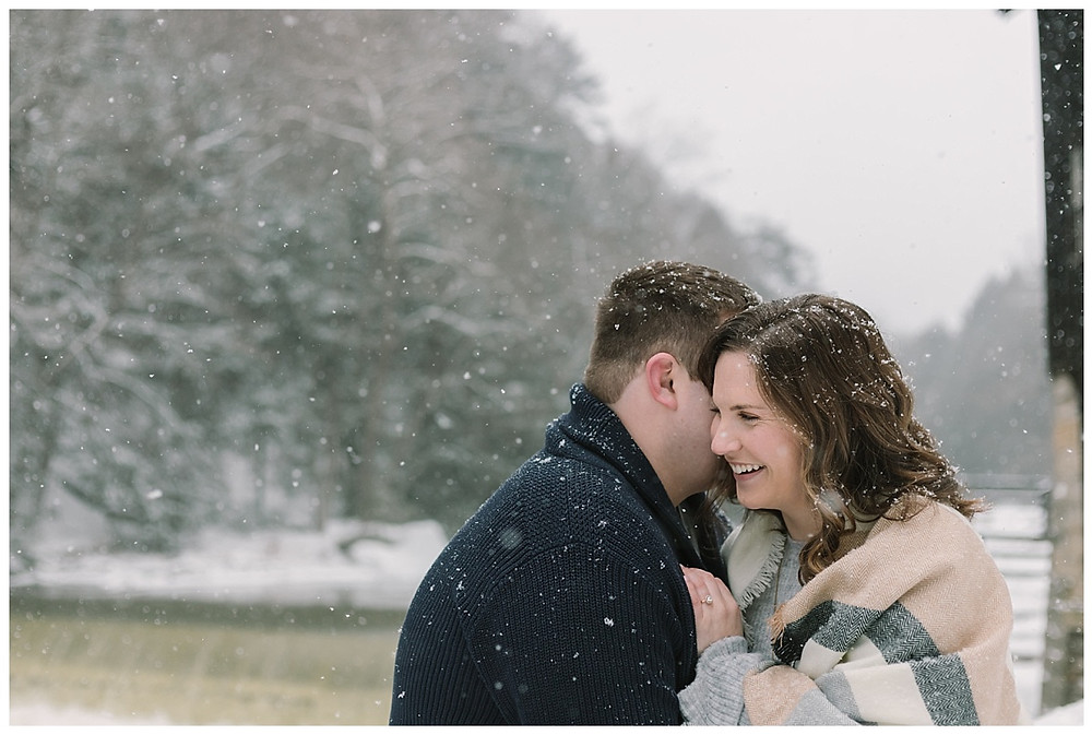 McConells Mills Winter Engagement Session Pittsburgh Pa LeeAnn