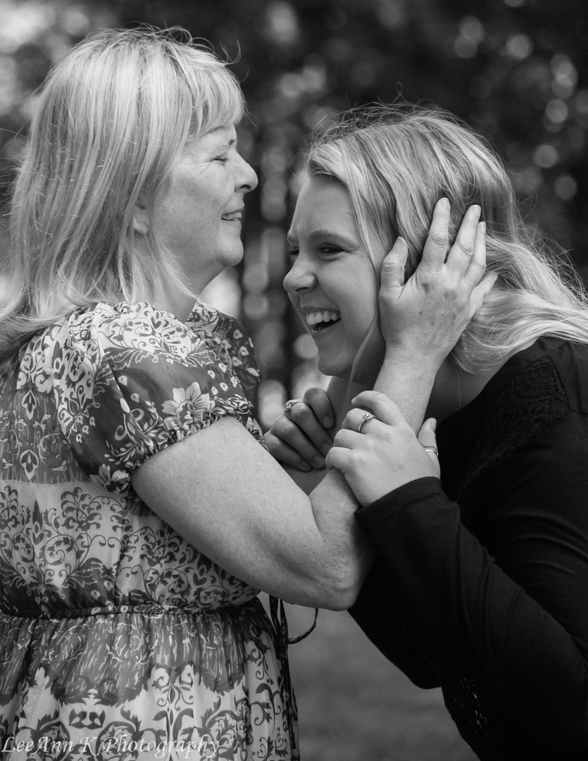 Black and white mother and daughter portrait by LeeAnn K Photography a Pittsburgh family portrait photographer.