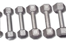 CAST IRON HEX DUMBBELL SET 2-10 LBS. DB2-10