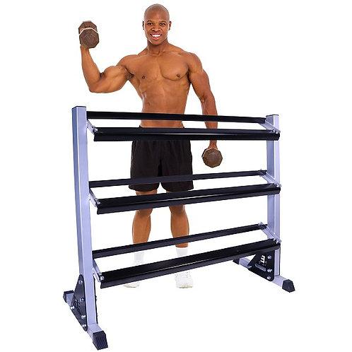 """Body Elite 55"""" Three Tier Dumbbell Rack"""