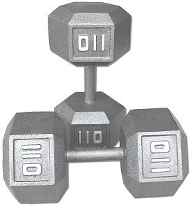 110 lb Dumbbell Pair