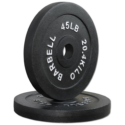 PAIR COMPACT 45 LB. OLYMPIC PLATES