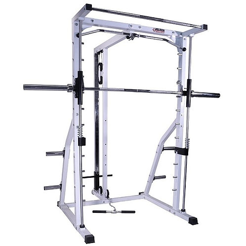 Linear Bearing Smith Machine with Lat Attachment