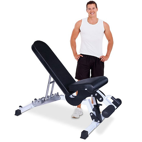 Commercial Grade Flat Incline Decline Bench by Deltech Fitness DF9800