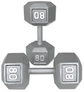 80 lb Dumbbell Pair