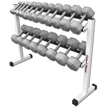 DF5600-Rack with 5-50 lb. Dumbbell Set